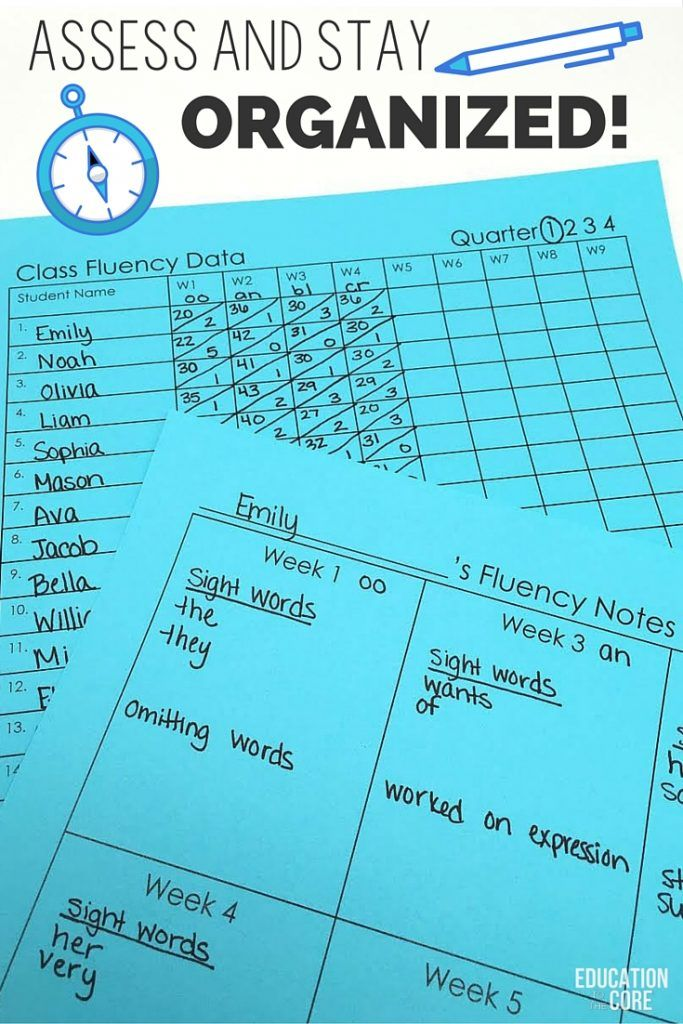 Manageable Ways to Track and Monitor Reading Fluency - Education to the Core