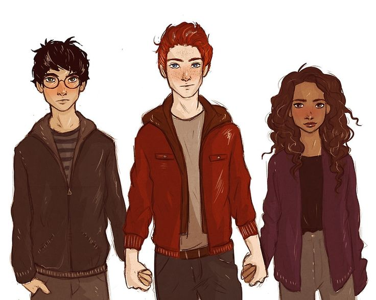 The Golden Trio | Drawings and Art | Pinterest | The ... Harry Potter Trio Fan Art