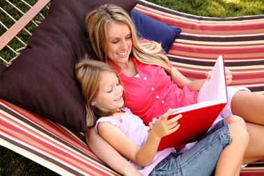 Share your favorite place to read, either alone or with a child. ~ The Children's Reading Foundation