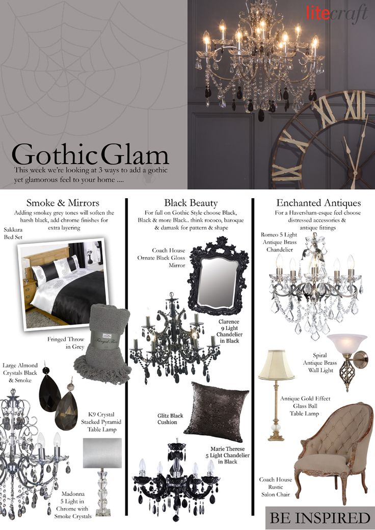 With Halloween only 2 days away it's inevitable that this week we're going to look at the Gothic glam trend, this architectural style was very popular i