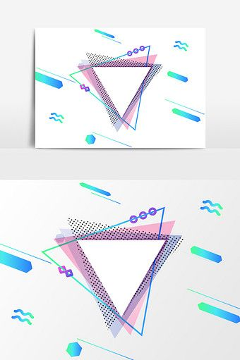 Hand Drawn Cartoon Geometric Design Elements Png Images Ai Free Download Pikbest