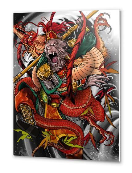 Quot Monkey King Quot Metal Print By Elvin Tattoo On Artsider Com