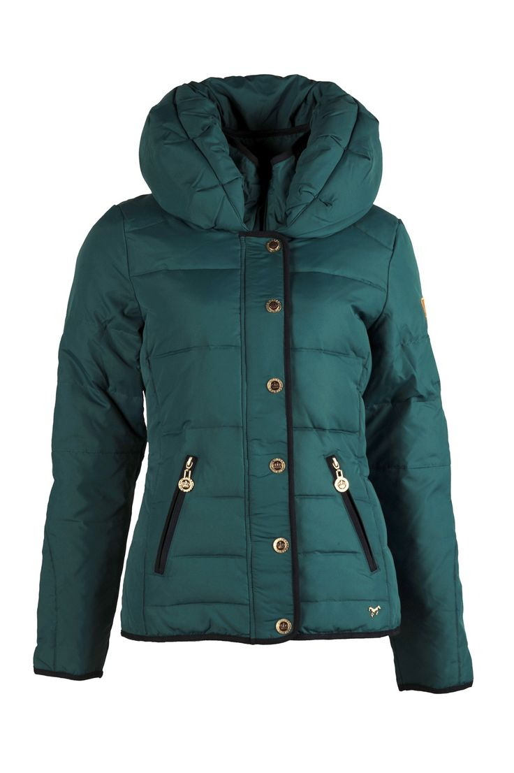 Lauria Garrelli Majestic Ladies Down Jacket in Petrol (Front View)