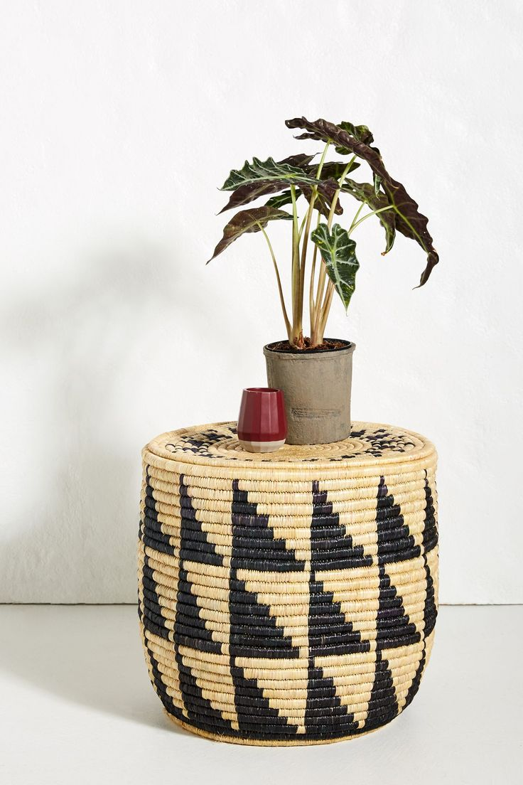 Silas Woven Side Table (With images) Side table, Unique