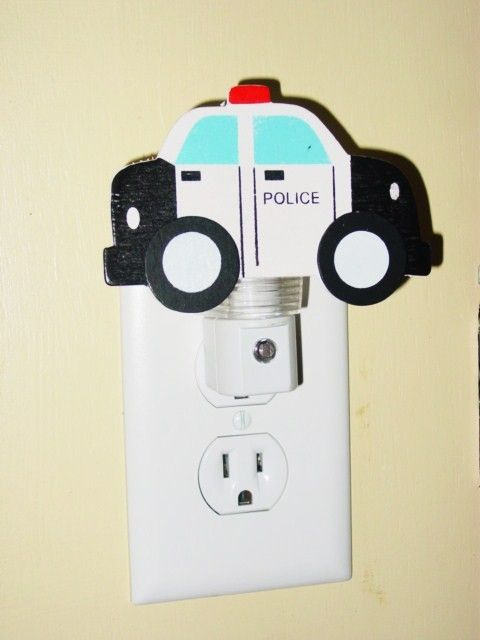 Police Car night light Law Enforcement Officer by kryshasCreations, $11.99
