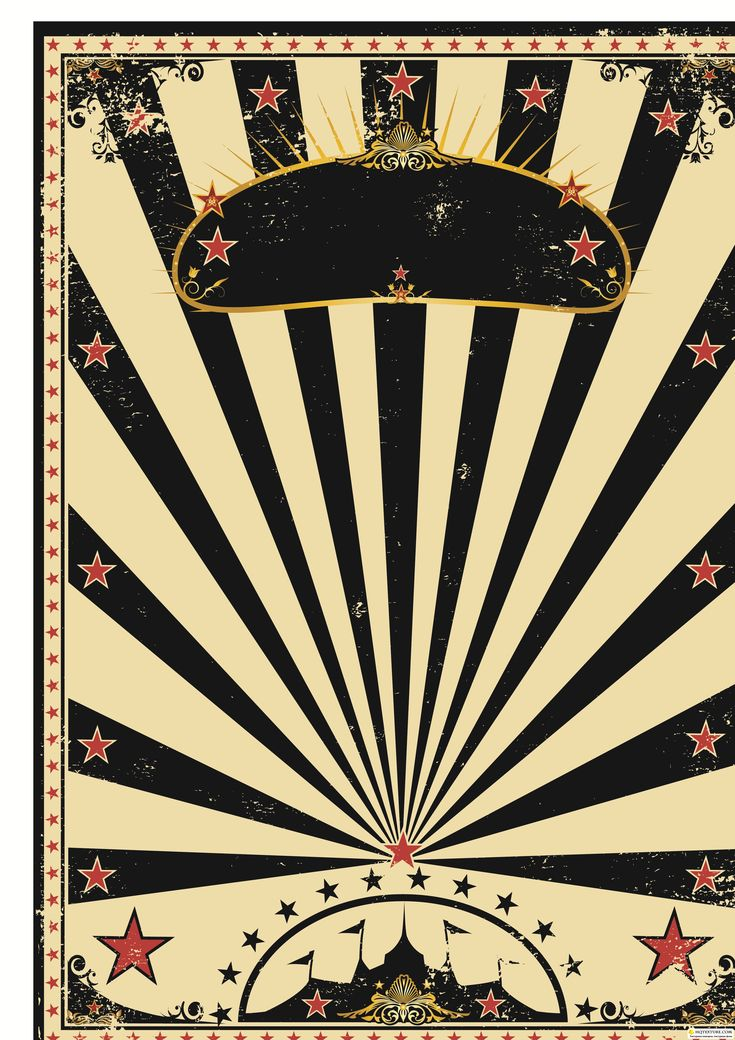 Vintage Circus Poster Background Circus Poster Template...