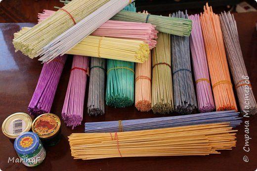 Мастер-класс Материалы и инструменты Плетение Окраска бумажных трубочек Трубочки бумажные фото 7