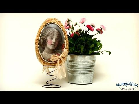Jajo Vintage -  decoupage  - tutorial DIY - YouTube