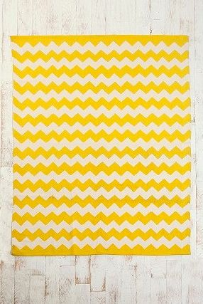 yellow chevron rug - got this for my baby girl's room