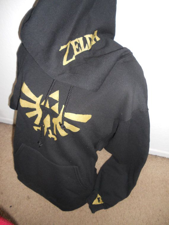Hey, I found this really awesome Etsy listing at https://www.etsy.com/listing/84358482/black-legend-of-zelda-pullover-hoodie