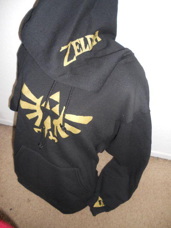 back for limited time BLACK Legend of Zelda pullover by Stitch3d, $45.00