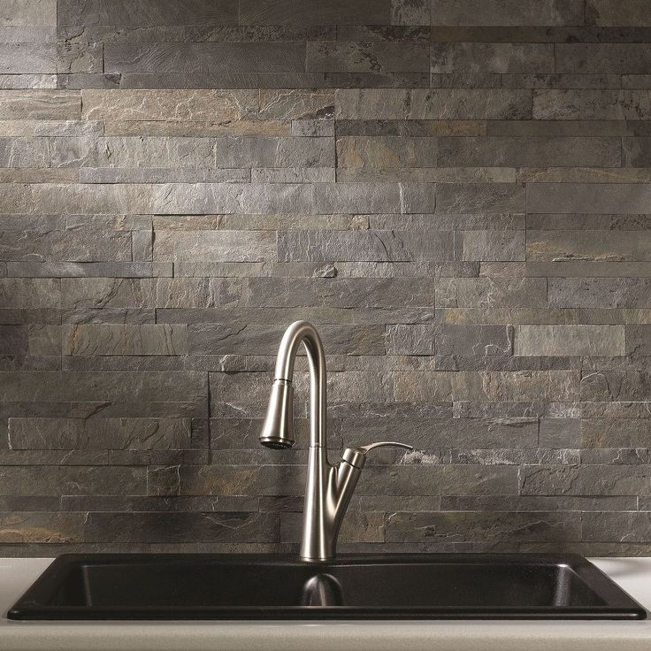 Cover your backsplash in a fraction of the time with this adhesive backsplash material.