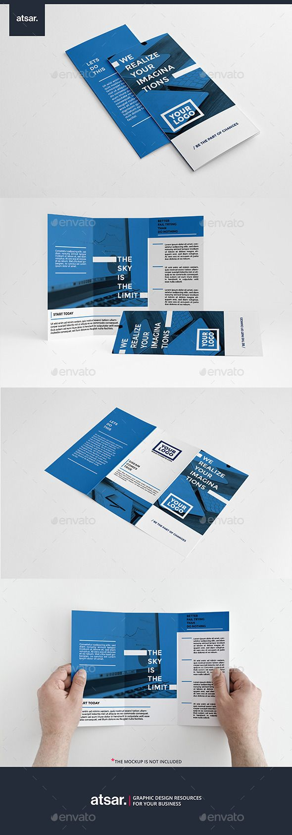 Clean Blue Trifold Template #design Download: http://graphicriver.net/item/clean-blue-trifold/12233957?ref=ksioks