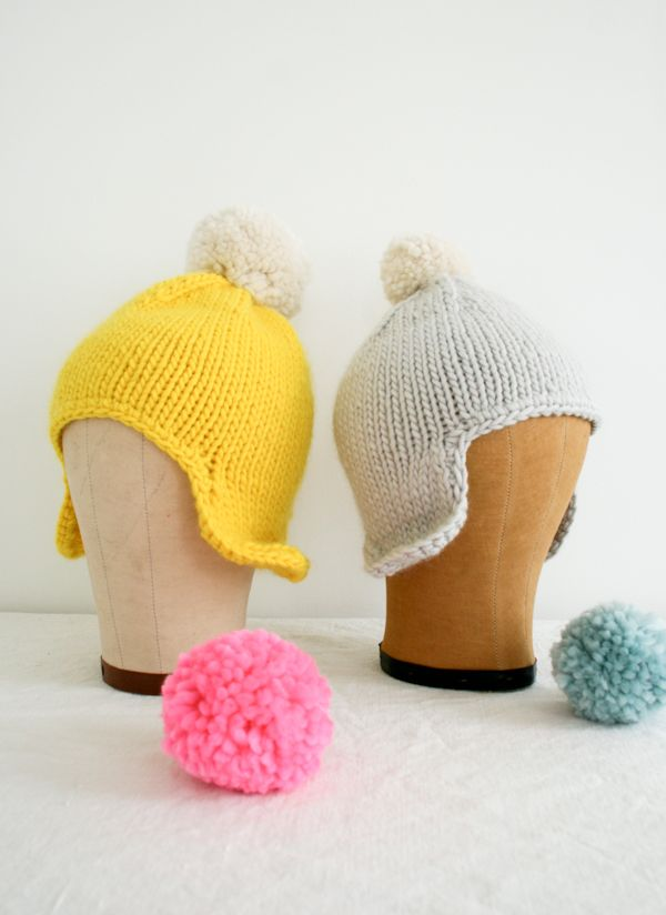 Cozy knit hat for your shoebox gifts! #Tutorial here: