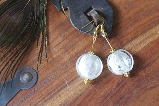 Frosted Bead Earrings $14 Aus