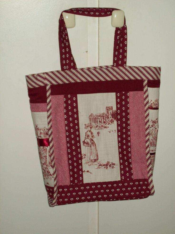 Patchwork Bag in burgundy toile de Joue for Kerry's friend