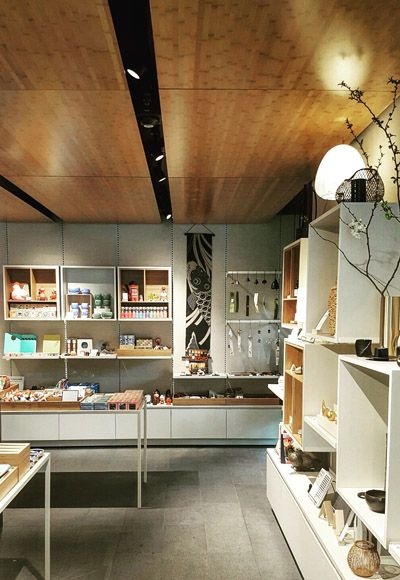EOA / Elmslie Osler Architect designed giftshop at the new Portland Japanese garden expansion in Portland Oregon designed by Kengo Kuma and Associates.