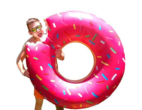 Giant Donut Pool Float from Third Drawer Down via The Third Row
