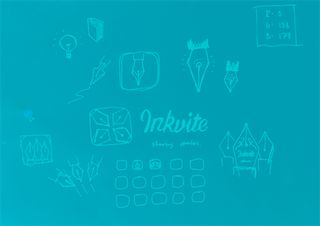 Inkvite icon design sketch, filtered to match the colour scheme for the Inkvite website!