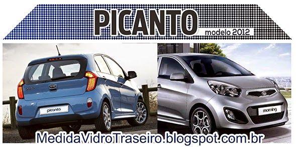 Medida Vidro Traseiro: Picanto 2012: Medida Vidro Traseiro (Adesivo Perfu...