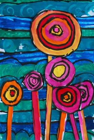 hundertwasser tree desing from alum creek elementary  gr 1