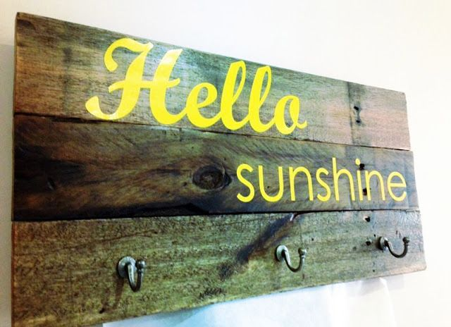 Hello sunshine coat hook by Oak and Willow