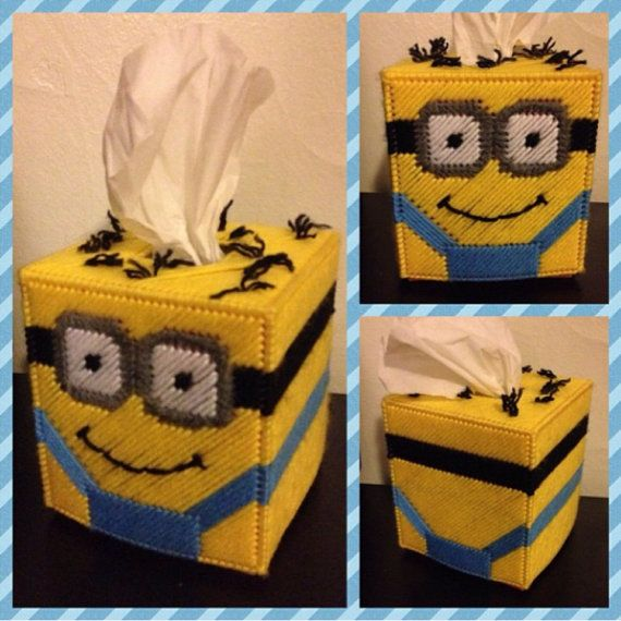 Minion Tissue Box Cover by K8BitHero on Etsy