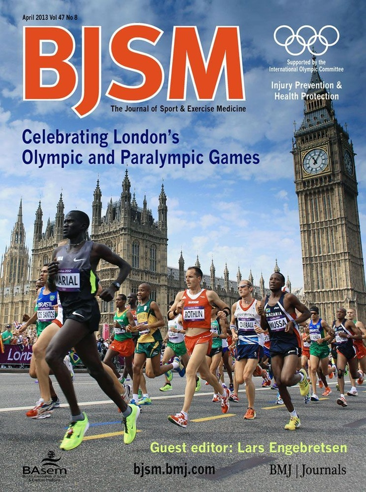 BJSM Volume 47 Issue 7 | May 2013 ~ Celebrating London's Olympic and ParaOlympic Games.  Editorials: ~Healthcare challenges at an Olympic Games  ~London 2012 Paralympic Games: bringing sight to the blind?  ~Innovations in Olympic and Paralympic pharmacy services