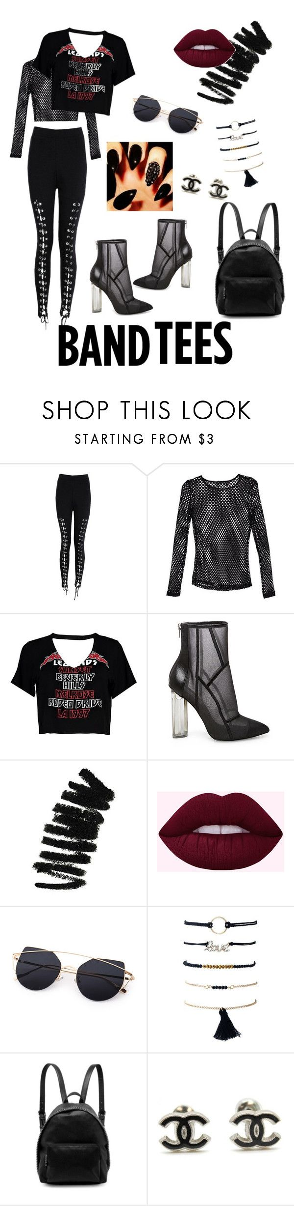 """Rocker Chic"" by lexisizzle ❤ liked on Polyvore featuring Boohoo, Nasty Gal, Steve Madden, Bobbi Brown Cosmetics and STELLA McCARTNEY"