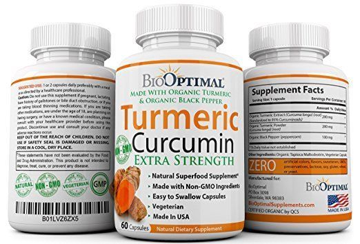 Turmeric Curcumin Capsules Pure Dietary Supplement Joint Muscle 60 Cap #Unbranded