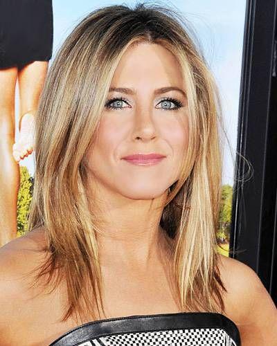 Jennifer Anniston Hair. whispy bottom long layers. shoulder length.