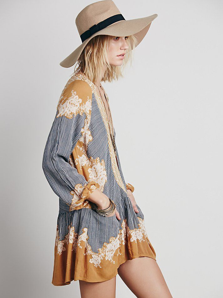 Free People Border Print Dropwaist Tunic At Free People