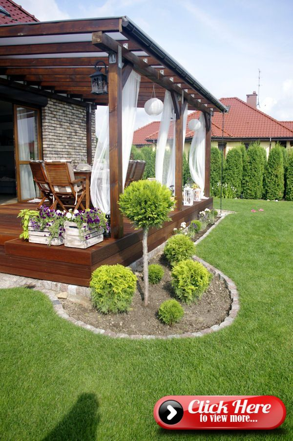 To Decorate A Beautiful And Cozy Terrace Wooden Terrace Roofing Wood Mainty Holzterrassenuber Small Backyard Landscaping Backyard Patio Small Backyard Patio