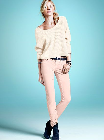 Corduroy Mid-rise Siren. love the light pink pant
