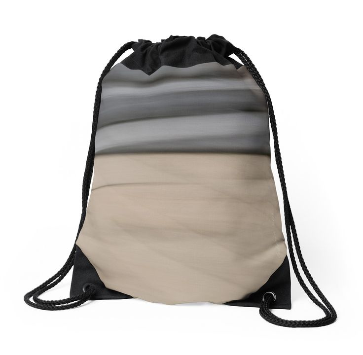 Abstract Wave Drawstring Bags by Galerie 503