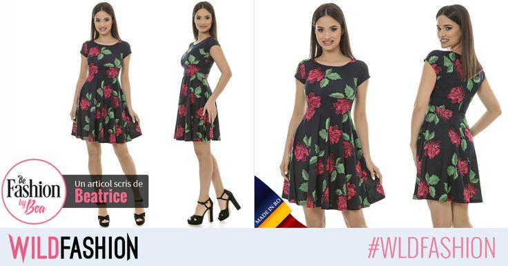 La birou sau la o iesire cu prietenele dupa program, aceasta rochie inflorata este solutia chic de care aveai nevoie: