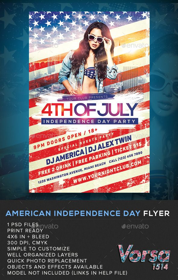 American Independence Day Flyer American independence, Font logo - independence day flyer