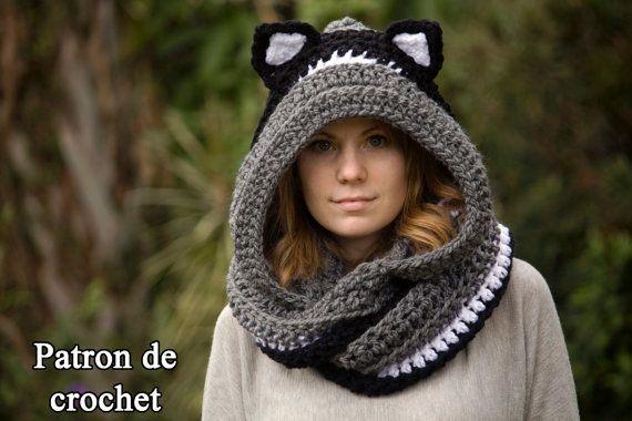 Patron de crochet en FRANCAIS écharpe chat écharpe par WellRavelled