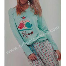 Pijama 2 piezas 100% algodón