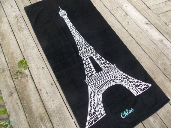 Hey, I found this really awesome Etsy listing at https://www.etsy.com/listing/233985073/eiffel-tower-personalized-beach-towel