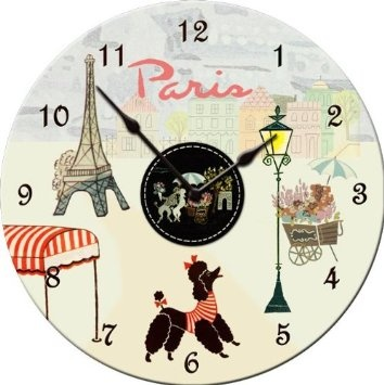 Amazon.com: Dolce Mia Paris Wall Clock - Sew Vintage: Home & Kitchen
