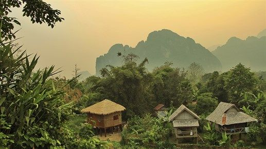 Local village Vang Vieng in Laos #asia #kilroy #backpacking