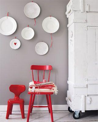 Durf je het niet aan om een grote muur of deur rood te schilderen je kunt de kleur ook terug - Muur hutch ...
