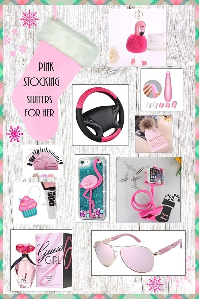 Great PINK Stocking Stuffer Ideas For Her. PINK stocking fillers for mom, sister, girlfriend, wife, friend.