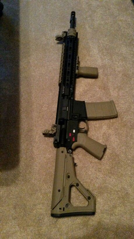 My completed ar 15 build spikes lower, bcm upper,  bcm 16 inch mid length,  geissele MK2 13 inch SMR, Surefire MB556k muzzle break, DD lower parts kit, magpul UBR stock and furniture, bcm bolt carrier.
