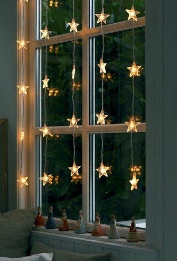 lichterketten sterne weihnachtsdeko fenster