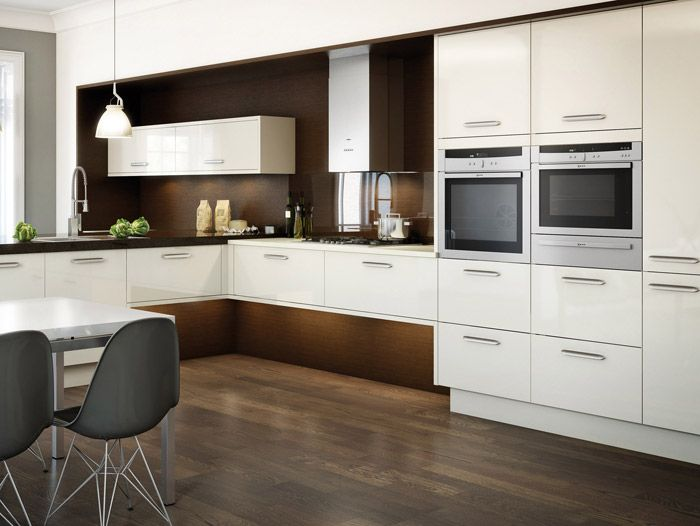 White L shaped kitchens 2012