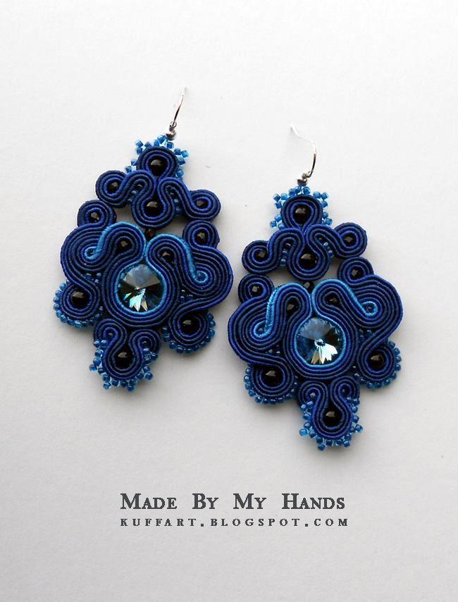 Soutache earrings:  Mr Hands