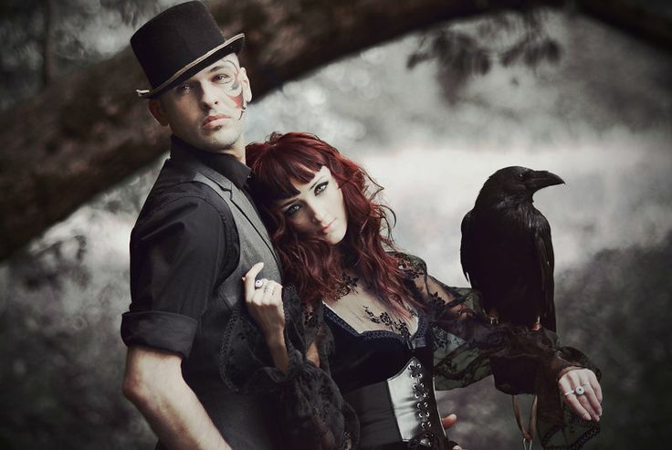 Gothic couple. - http://fc09.deviantart.net/fs71/i/2012/303/d/8/gothic_couple_2_by_insomnia_stock-d5jgh9f.jpg