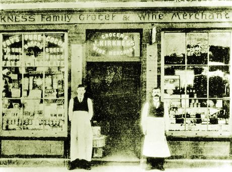 The Longship shop 110 years ago! Still serving Wine and Food in Kirkwall